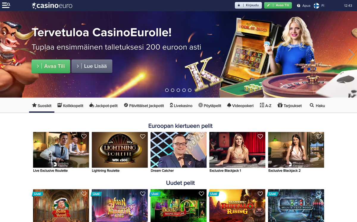 casinoeuro-etusivu-ja-bonus