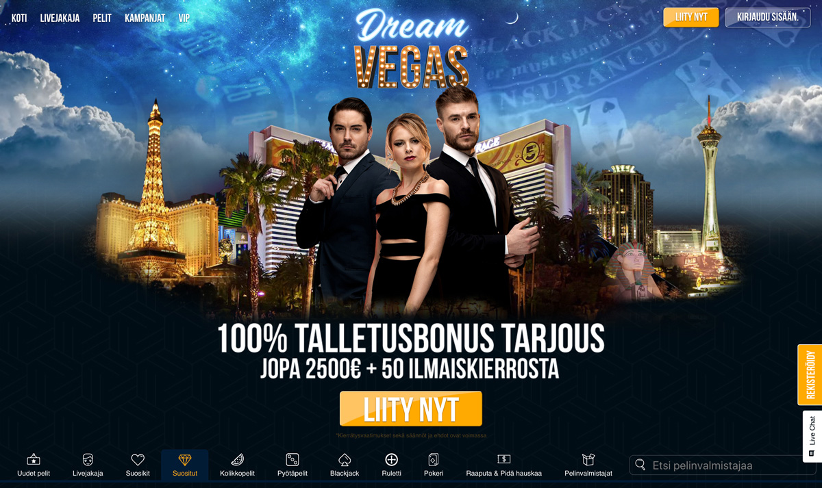 dream-vegas-casinon-esittely-ja-bonus