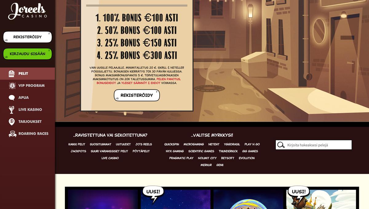joreels-casino-etusivu