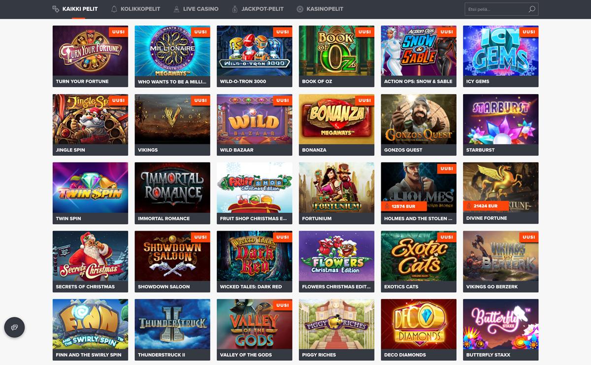ninja-casino-esittely-ja-pelit