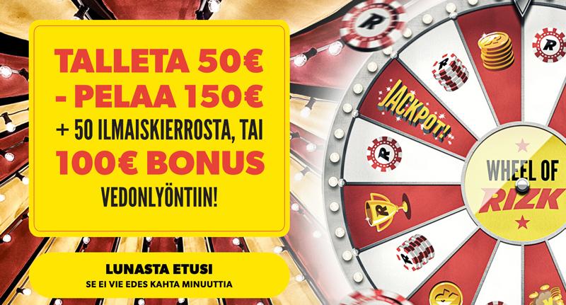 rizk-casino-bonus-uudelle-pelaajalle