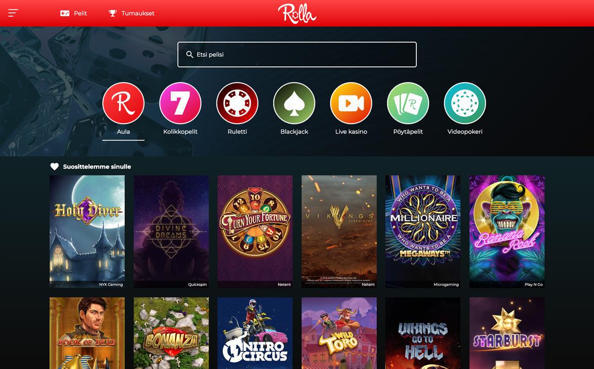 rolla-casino-pelit