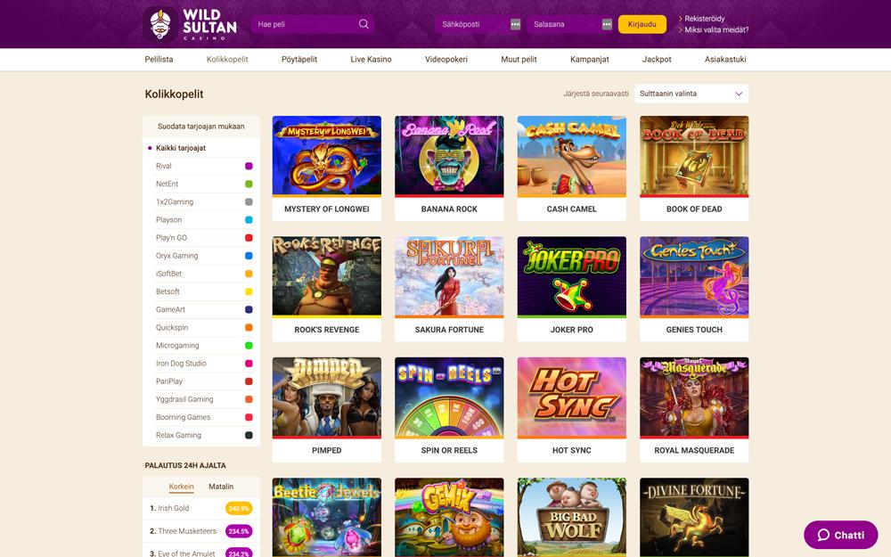 wild-sultan-casino-pelit-esittelyssä