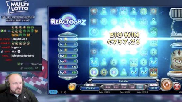 Suomalaismies voittaa 7500 euroa Reactoonz-kolikkopelistä – katso video