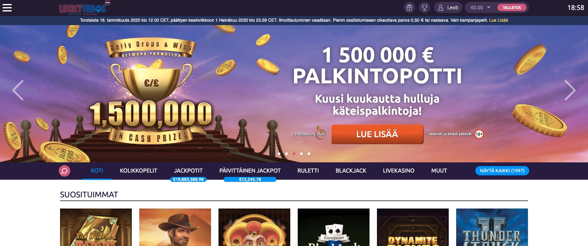 Lucky Vegas Etusivu